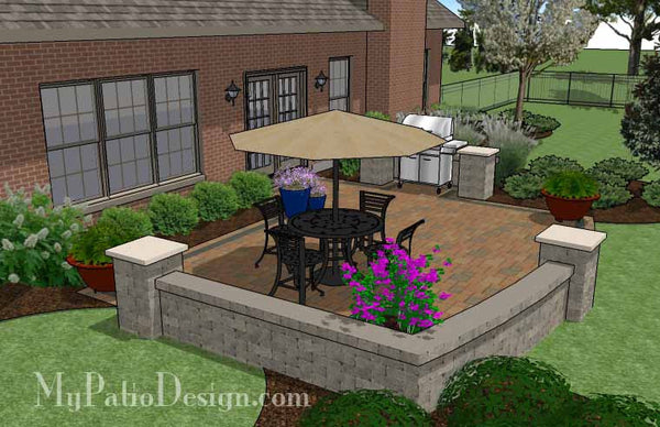 410 sq. ft. - Creative and Simple Patio Design with Seat ... on Creative Patio Designs id=58611