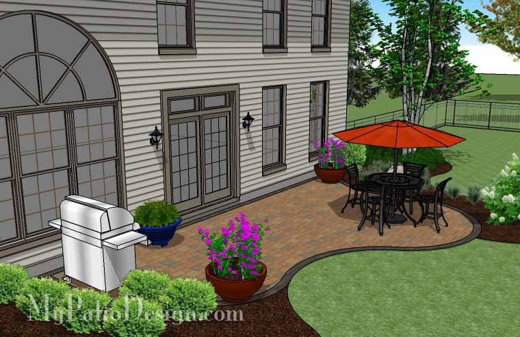 Patio Ideas For A Tight Budget: Curvy And Affordable Patio Design