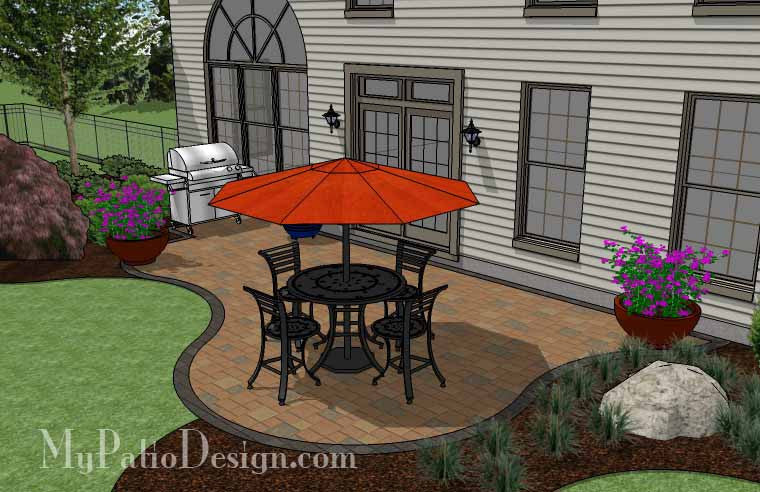 ... Curvy And Affordable Patio Design 4 ...