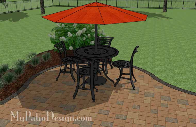 ... Curvy And Affordable Patio Design 6 ...