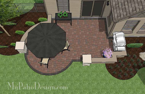 08 do it yourself patio designs that will rock your backyard diy budget friendly patio design with seat wall 2 solutioingenieria Images