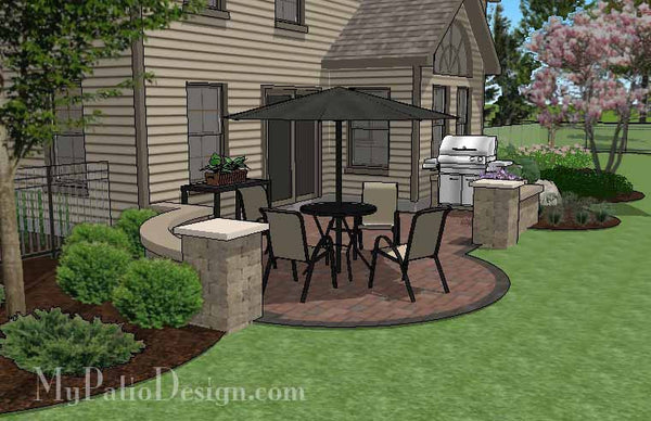 Diy Budget Friendly Patio Design With Seat Wall