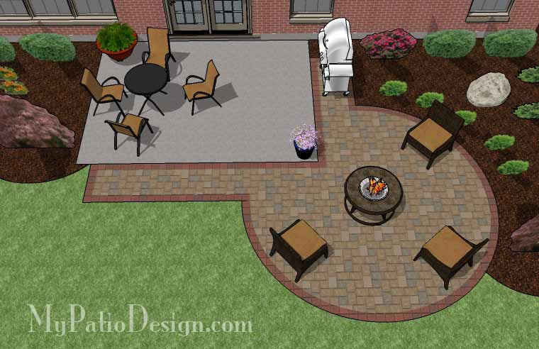 DIY Circle Patio Addition Design With Grill Pad   240 Sq. Ft.
