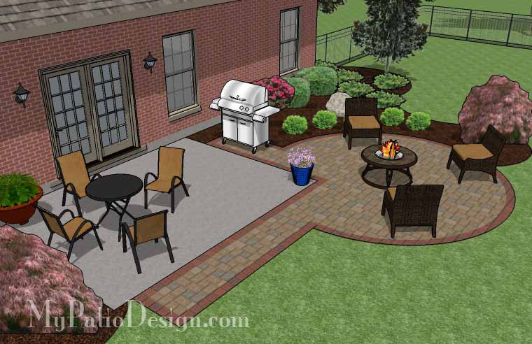 DIY Circle Patio Addition Design With Grill Pad Download - Patio addition