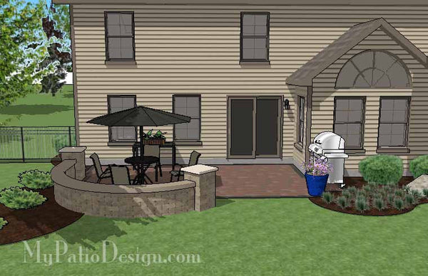 DIY Outdoor Living Design with Seat Wall | Downloadable ...