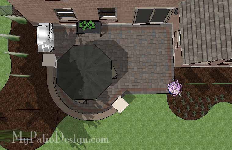 DIY Outdoor Patio Design With Seat Wall   310 Sq. Ft.