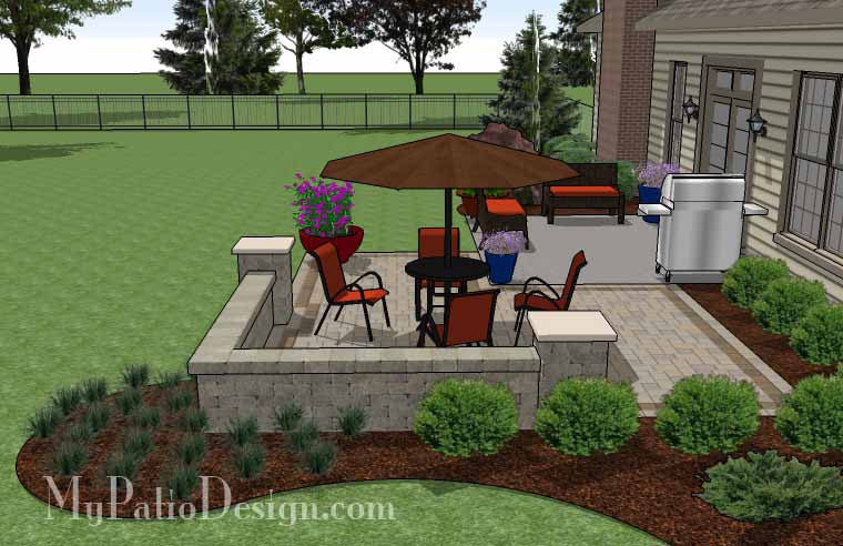 DIY Patio Addition Design With Seat Wall Download Plan - Patio addition