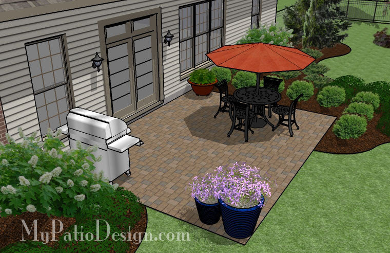 ... DIY Paver Patio Design 3 ...