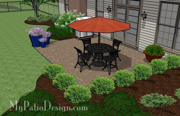 ... DIY Paver Patio Design 4 ...