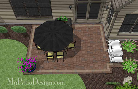 DIY Rectangular Patio Design 2