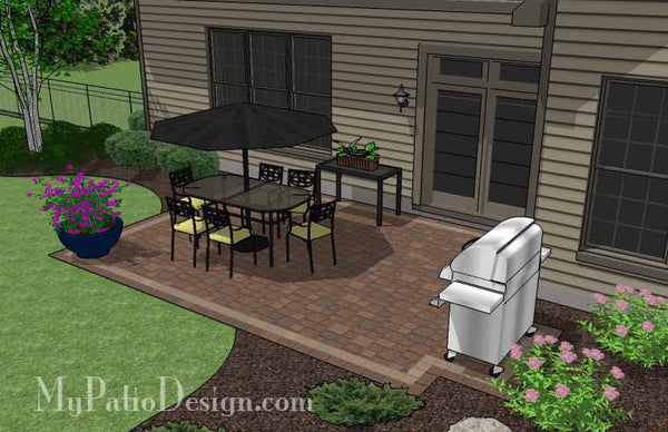 patio design ideas diy rectangular patio design downloadable patio plan 29810