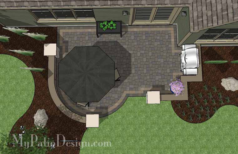 DIY Simple Patio Design With Seat Wall #2 ...