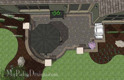 Bon DIY Simple Patio Design With Seat Wall #2