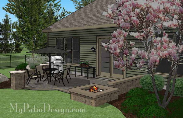 DIY Simple to Build Patio Design with Fire Pit ... on Simple Patio Designs With Fire Pit id=23828