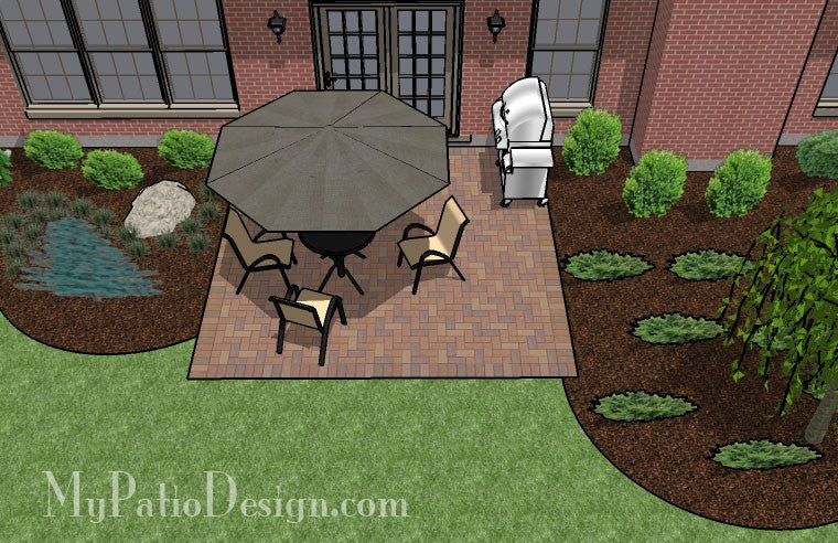DIY Small Brick Patio Design | Downloadable Plan ... on Small Brick Patio Ideas id=68737