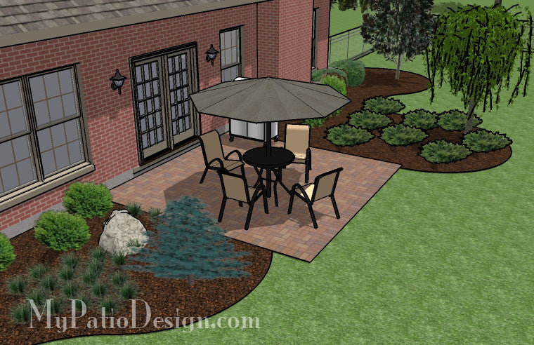 diy small brick patio design 3 - Diy Patio Design