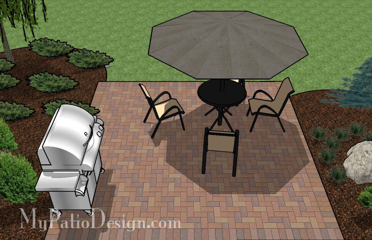 diy small brick patio design 5 - Diy Patio Design