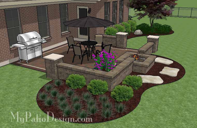 Etonnant ... DIY Small Outdoor Living Design With Fire Pit  ...