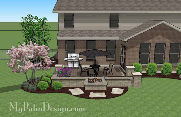 DIY Square Outdoor Living Design with Fire Pit | Download ...