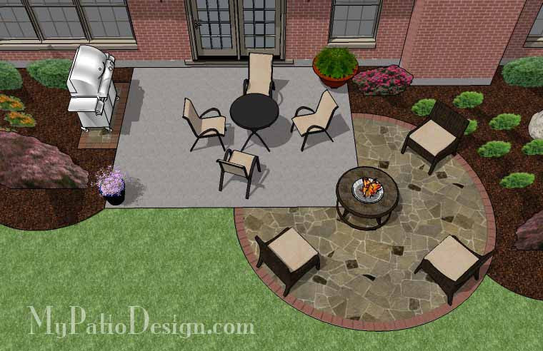 DIY Stone Circle Patio Addition Design 2