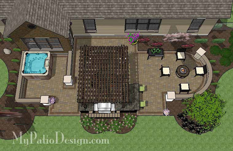 Dreamy Backyard Patio Design with Hot Tub 1