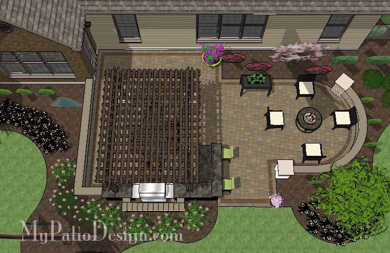 Dreamy Backyard Patio Design with Pergola 1