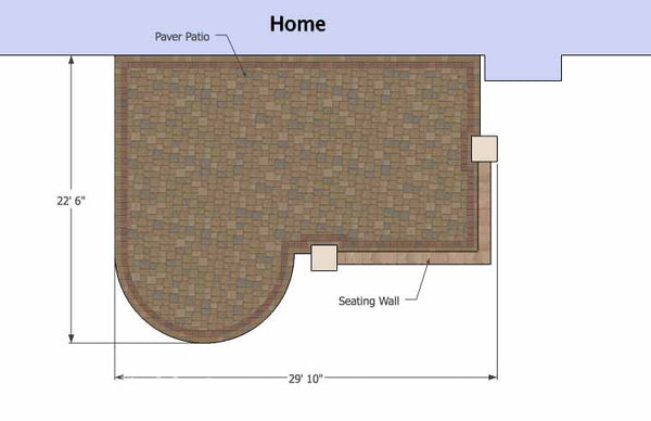 ... Dreamy Paver Patio Design With Seat Wall 1