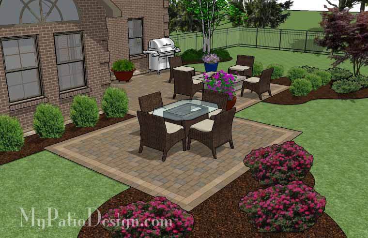 ... Fun Family Patio Design With Fire Pit 3 ...