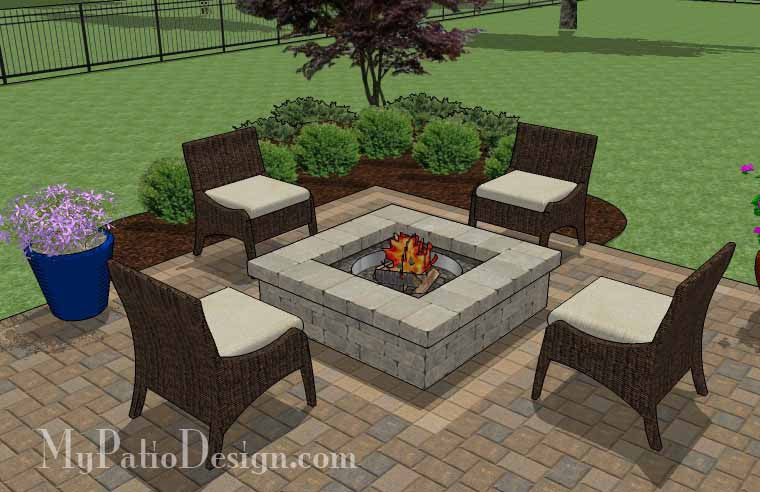 fun family patio design with fire pit | download plan ... - Patio Designs Fire Pit