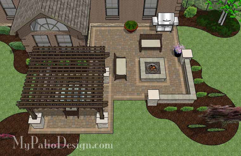 Fun, Family Patio Design with Pergola 2