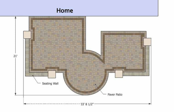 ... Hot Tub Patio Design With Seat Walls 1