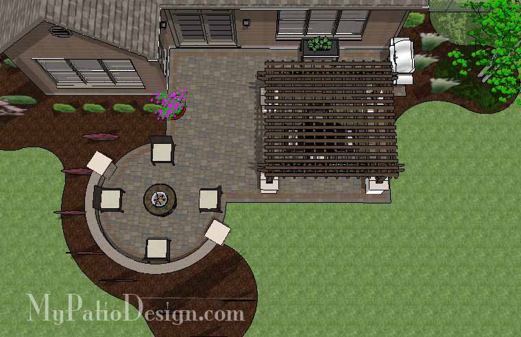 Inspiring Patio Design with Pergola 1