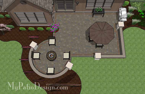 Inspiring Patio Design with Seat Walls 1
