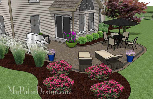 L Shaped Patio Design | Patio Layout and Material List ... on L Shaped Backyard Ideas id=97811
