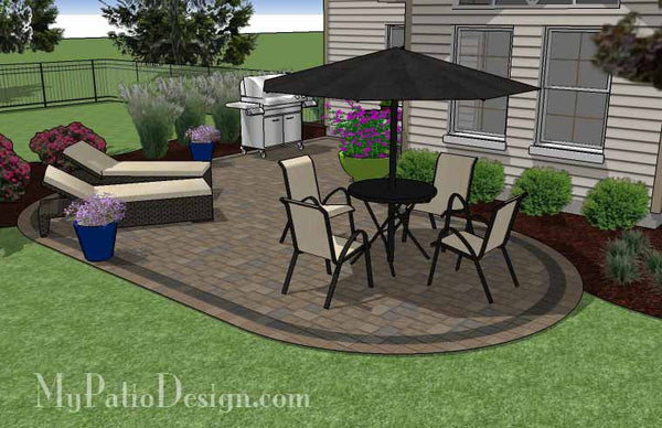 L Shaped Patio Design | Patio Layout and Material List ... on L Shaped Backyard Ideas id=41228
