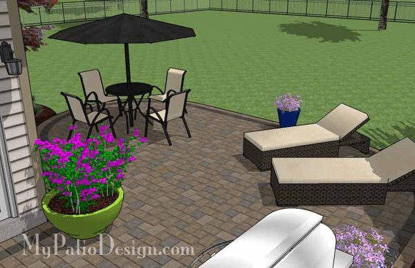 L Shaped Patio Design | Patio Layout and Material List ... on L Shaped Backyard Layout id=23735