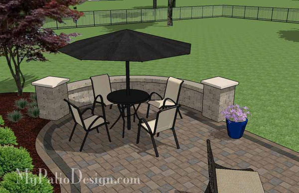 430 sq. ft. - L Shaped Patio Design with Grill Station and ... on L Shaped Backyard Ideas id=97238