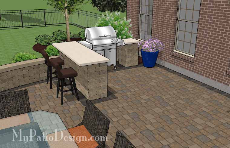... Patio Design For Entertaining With Grill Station Bar 5 ...