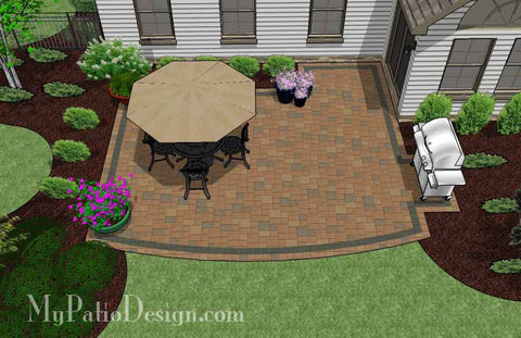 Private Backyard Patio Design 2