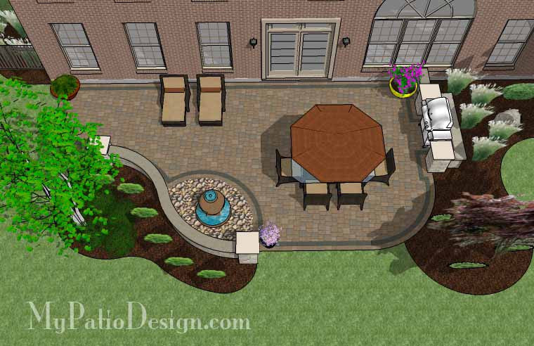 Delightful Relaxing Backyard Patio Plan 2 ...