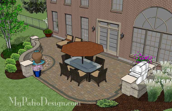 Relaxing Backyard Patio Plan | Layout and Material List ... on Patio Designs For Straight Houses id=55098