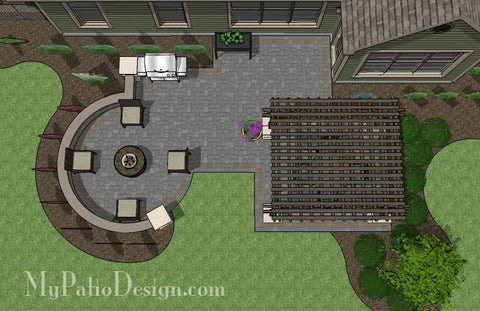 Relaxing Outdoor Living Design with Pergola 1