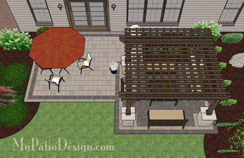 Simple and Affordable Brick Patio Design with Pergola 2
