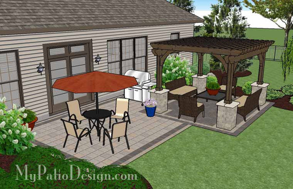 470 sq. ft. - Simple and Affordable Brick Patio Design ... on Basic Patio Designs id=45652
