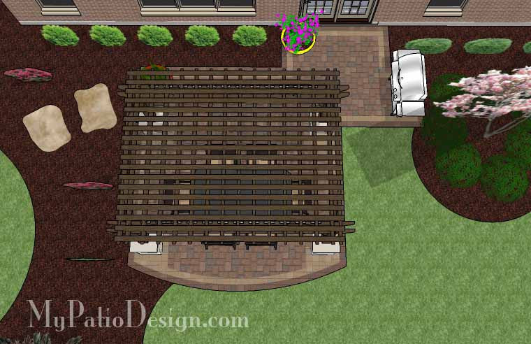 Simple Paver Patio Design with Pergola | Download Plan ... on Basic Patio Designs id=69872