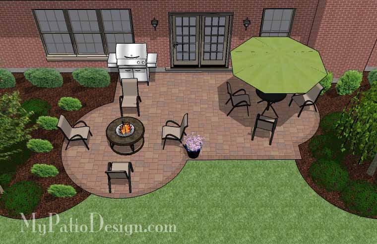 Small Backyard Patio Design Layouts And Material List Mypatiodesign Com