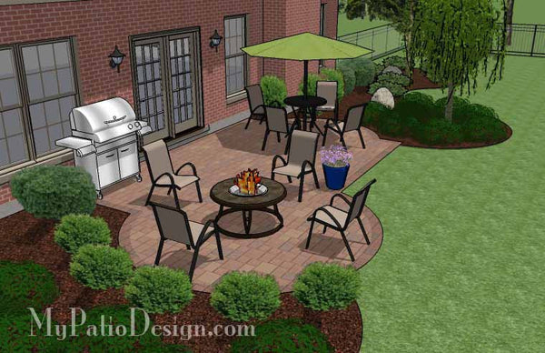 Small Backyard Patio Design | Layouts and Material List ... on Small Backyard Layout id=44947