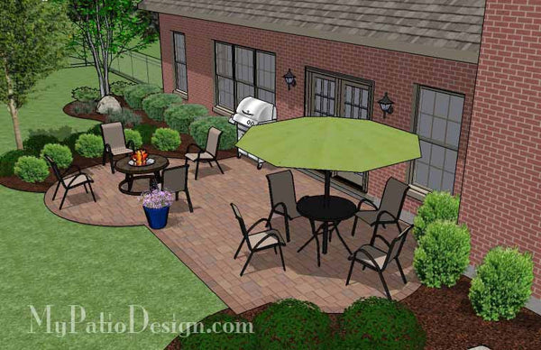 Small Backyard Patio Design | Layouts and Material List ... on Patio Designs For Straight Houses id=15725