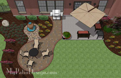 Small Curvy Patio Design Addition 2