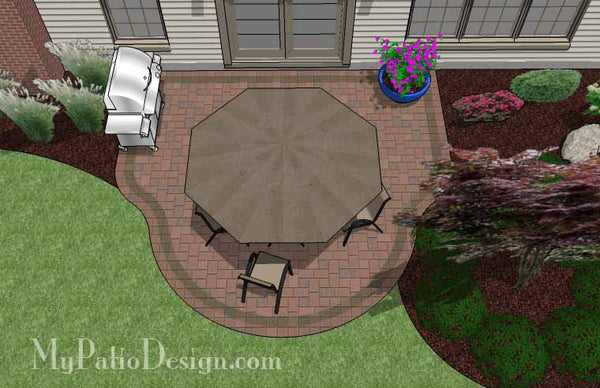 Small Easy to Build Patio Design | Downloadable Plan ... on Patio Designs For Straight Houses id=86474